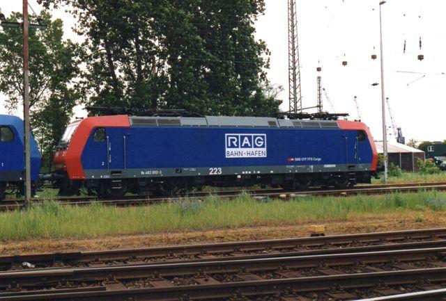 RAG 223. Bemærk, at lokomotivete r lejet fra SBB, schweiziske Forbubdsbaner. 2005.