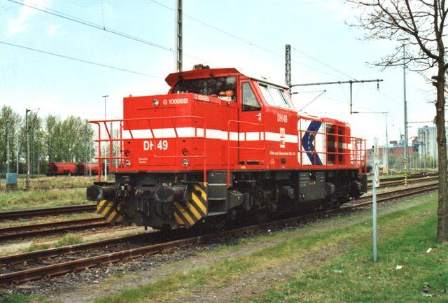 HGK var 2008 repreæsenteret med DH 49 ´, Vosslog Locomotives 500 1568/2005.