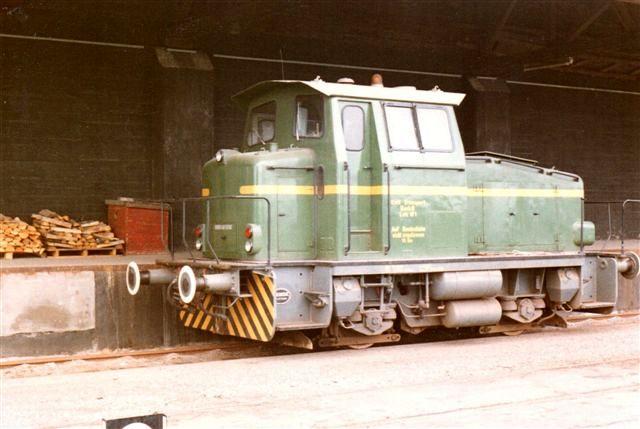 Lok 1, Deutz 57880/1966. KG230B. 230 hk. 32. t. Senere solgt til Burmah. Foto fra 1983.