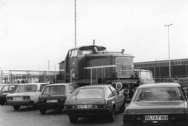 Esso 1, Henschel 28636/1956. Foto 1986. Lokomotivet dukkede senere op hos Oiltanking på Hohe Scharr.