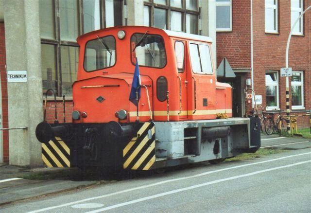 Haltermann 2 var en mindre O&K 26708/1972. MB170N. Lokomotivet fører St. Pauliflag (fodboldklub!) Foto 2008,