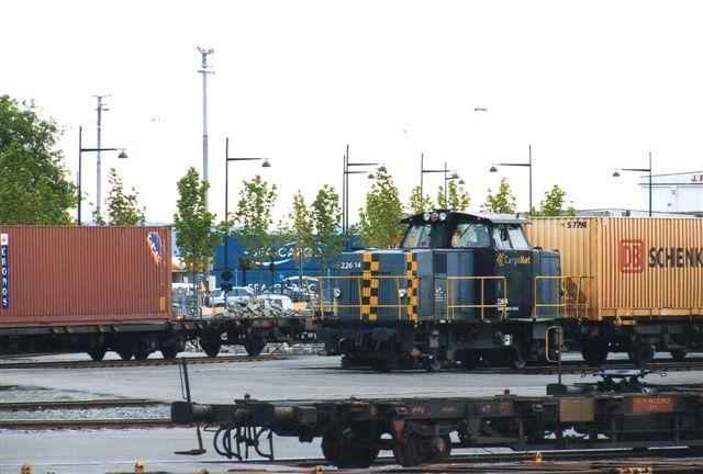 CargoNet 226.14 på godspladsen. Trondheim 2011.