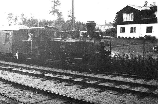 UHB Prydz, Henschel 28463/1950 i drift på museumsbanen på Jernbanemuseet i Hamar. Foto: Hans Kristian Hansen 1970.