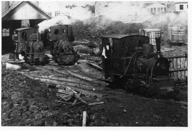 Stakroge - Barlund Tørvebanes tre lokomotiver.