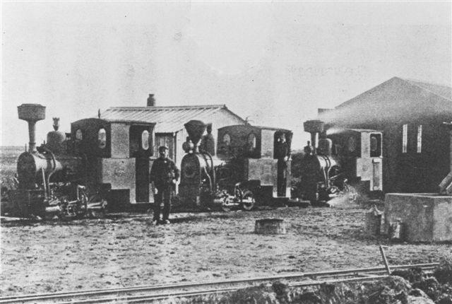 Vorbasse Mergelselskabes tre Jung-lokomotiver.