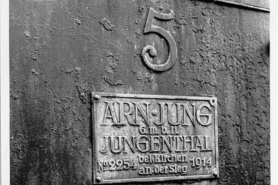 Jungs 2254/1914' plade og nr.