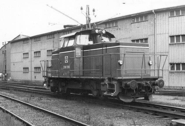 SJ Z 66 599 rangerede på Færgestationen i 1981.