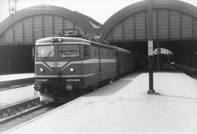 SJ Rc2 1041 i Malmö 1982.