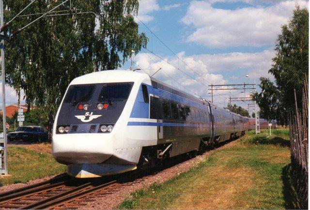 SJ X2 i Mora 1997. Nummeret fik jeg ikke i farten.