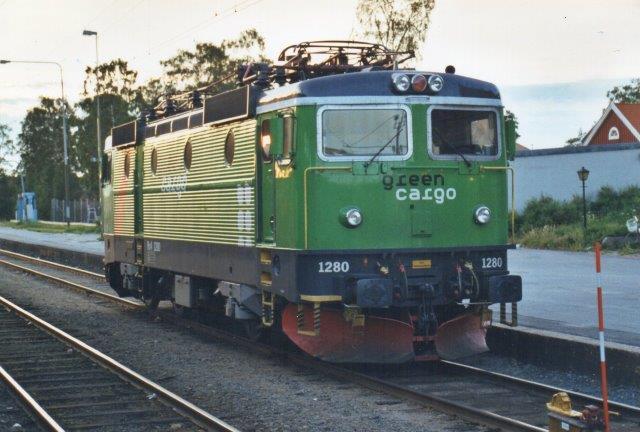 Green Cargo Rc4 1280. Denne gang løb jeg over den i Vännäs i 2002.