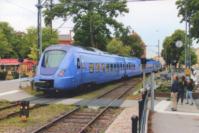 Skånetrafikken O18 i Ystad 2013.