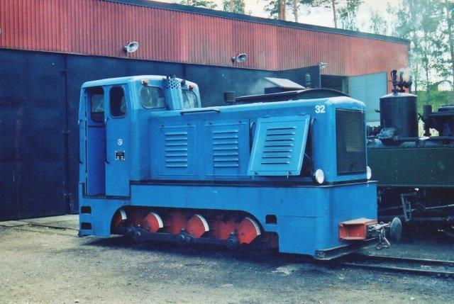Ohs Bruk 32, VEB LKM =/1960 type V10C. Den kom fra samme polske sukkerfabrik som det polske Lok. Foto 2008.