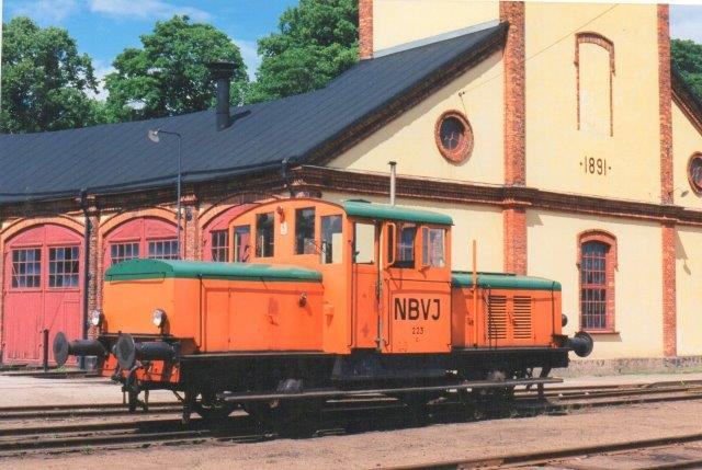 SJ Z 43 203 her på Nora Bergslag Veteran Järnväg i Nora 1997.