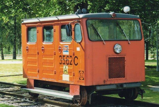 SJ 3562C på Jernbanemuseet i ângelholm 1998. Foto Edit Laursen.