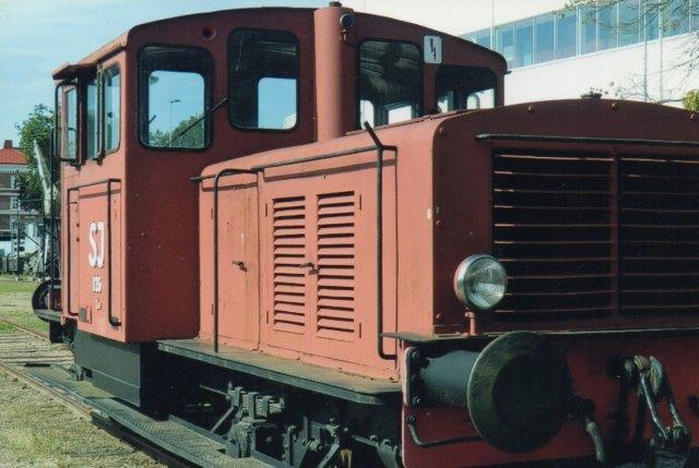 SJ Z49 126, KVAB 54/1942 på jernbanemuseet i Kristianstad 1998. Foto: Edit Laursen.