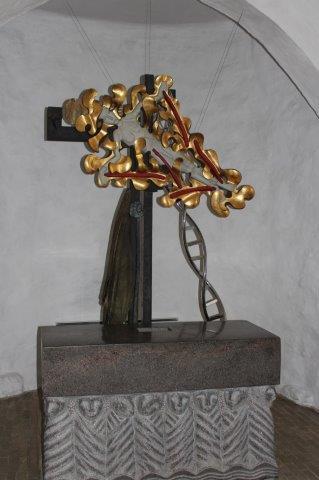 Knebel Kirke. Altertavlen