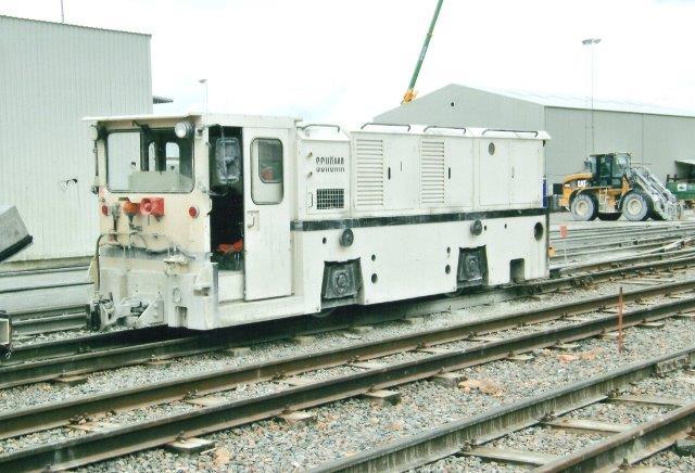 MCG 1, Schöma 5045/1990. Type CFL200DCL. Lokomotivet startede under Storebælt som nr 45-13.