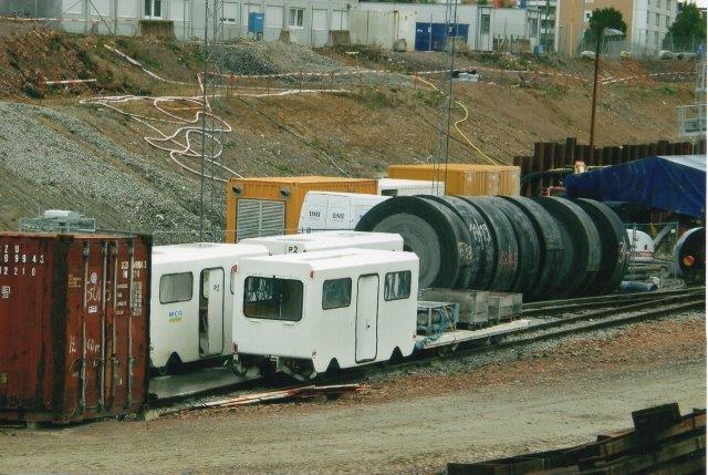 Bagerst på personvogne MCG P1 og P2 og forrest en regningsvogn til båretransport og desuden forsynet med blandt andet iltudstyr. 2007.