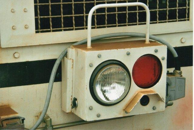 Et flytbart modul indeholdende frontlys, slutlys og tvoptager, så føreren på en skærm i lokomotivet kan skubbe et tog og alligevel se, hvor langt han er kommet. 2007.