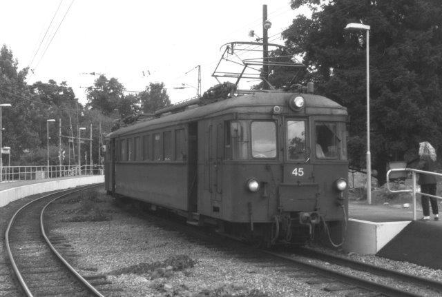 Motorvogn 46 danne bagenden af toget med 39 i front..
