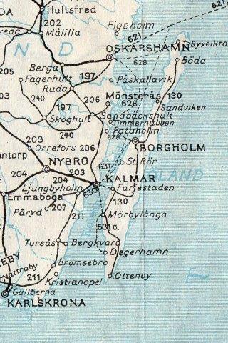 Jernbanerne på Öland efter Sveriges Kommunikationer 1952- udgaven.