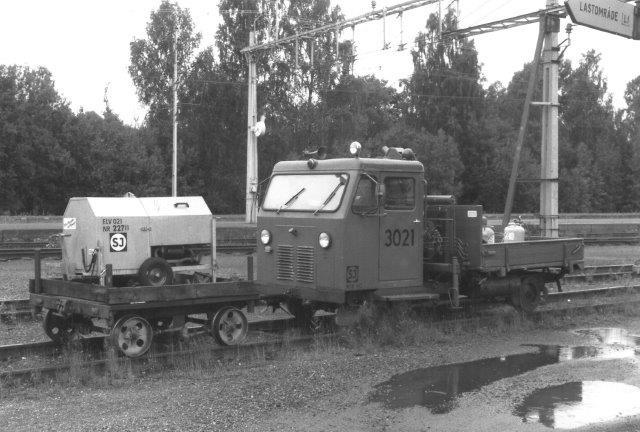 SJ 3021 stod også i Grängesberg 1988.