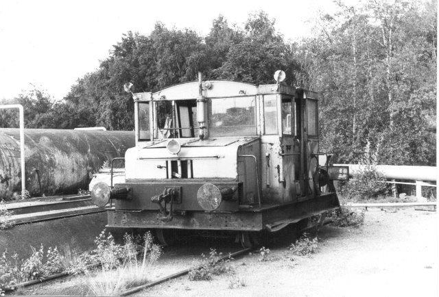 Nynäs uden nr. , Västervik 145/1933. Type 8. Tidligere SJ Z 169. Lokomotivete r senere kommet til Östra Skånes Järnvägsmuseum. Foto 1984.