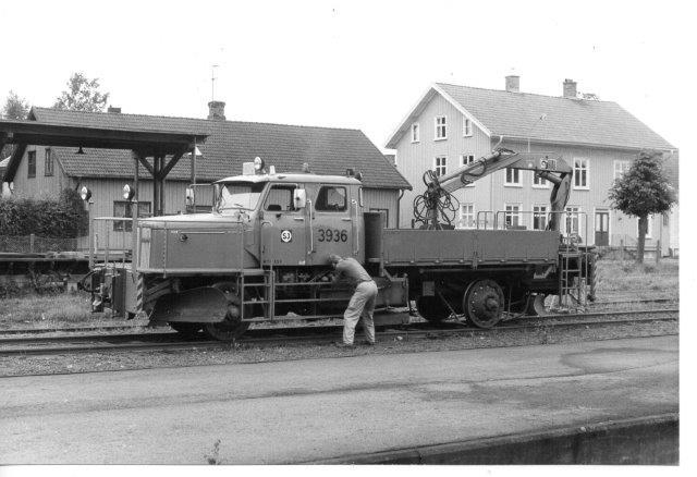 SJ 3936 i Vara nordøst for Göteborg 1986.