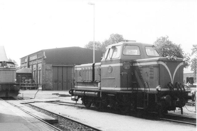 SJ T21 101 var nu kommet hjem fra rangering på stålværket og stod ved depotet i Halmstad til fotografering. 1986.