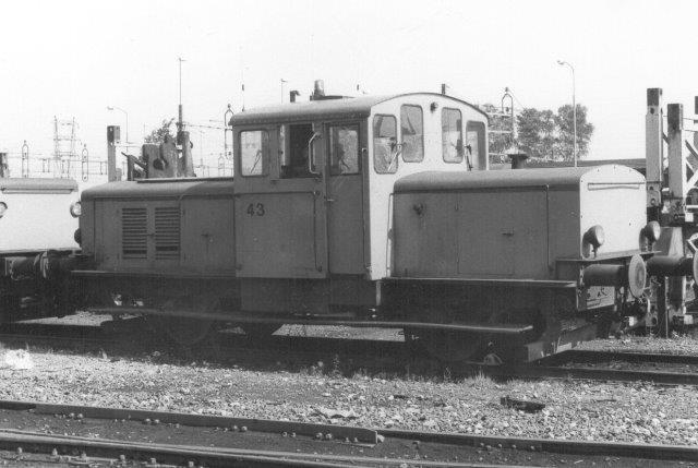 Halmstad Järnvärks AB 43, KMV 157/1946. Ex. SJ Z49 180. 1973 til Halmstad.