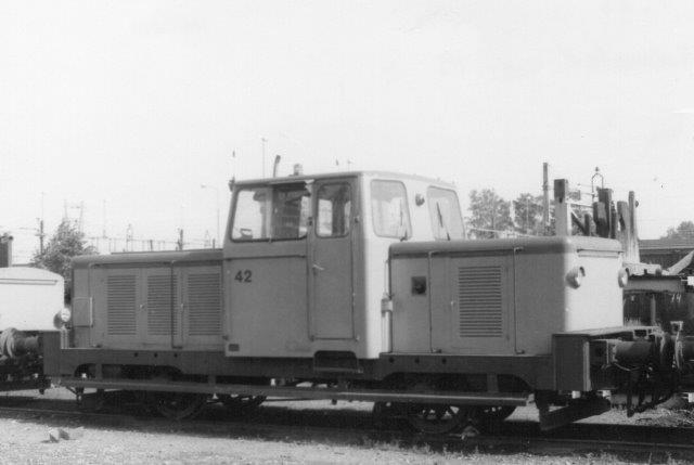 Halmstad Järnvärks 42, KVAB 144/1958. Ex SJ Z43 431. 1981 til Halmstad.