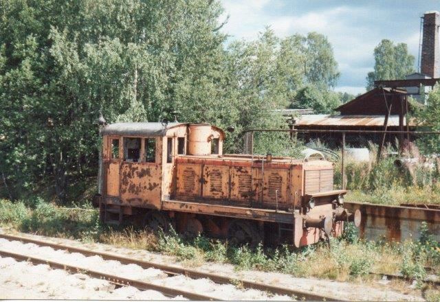 NBJ 5, DWK 676/1940 hos Nergmanns Rør i Hudiksvall 1988. Ejeren afventede at entusiaster var interesserede.