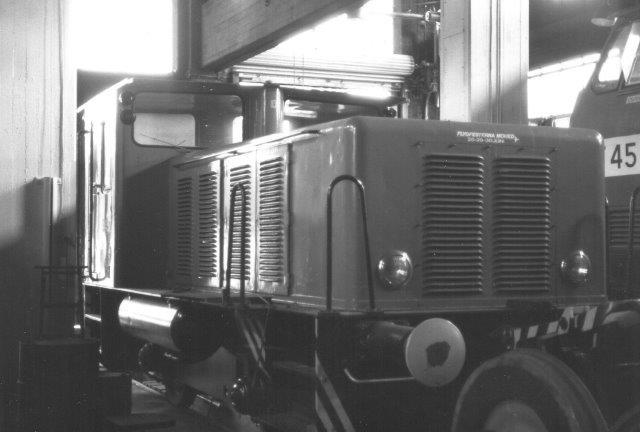 OVAKO 8457, Falun 761/1959. Også dette lokomotiv stammer fra SKF. 1988.