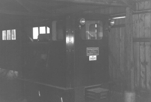 Rørdal-maskinen i Bredaryd i remisens mørke 1988.