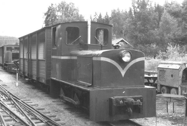 14 er Spoorijzer 6010/1960 oprindeligt 780 mm sporvidde fra stålværket Nyby Bruk.