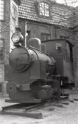Höganäs 9, Ljunggrens 31/1917 kom efter udrangeringen til Länsmuseet i Kristianstad, hvor det var bygget. Nu befinder det sig i depot ved jernbanemuseet i Kristianstad. Foto ved ankomsten i 1971 til Länsmusset. Billedet er udlånt og gengivet med tilladelse af Lars Olov Karlsson.