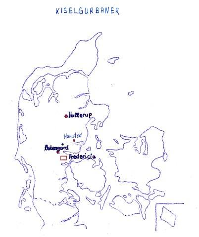 Områder i Danmark, hvor der har været gravet kiselgur.