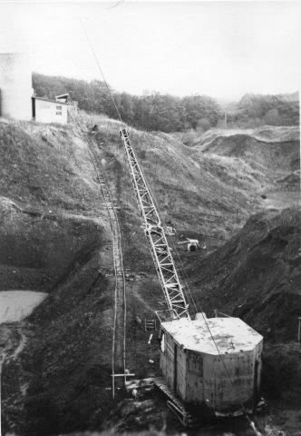 Hele banen efter en flytning. Foto: Peter Andersen 1971.