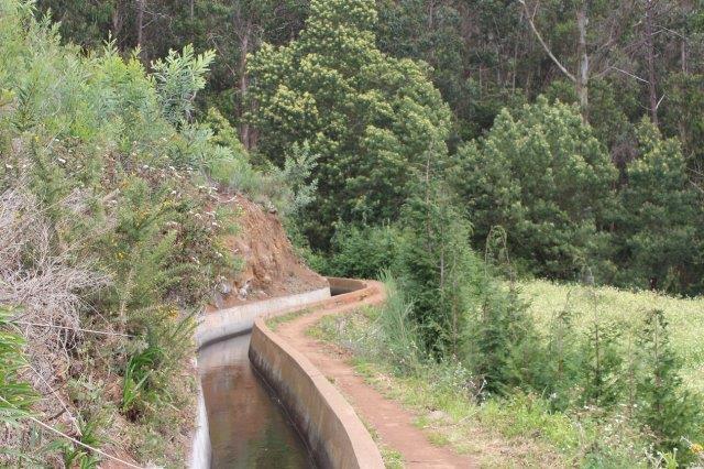 Her ligger der skov forude og marker nedenfor. de kan overrisles fra små vandudtag.